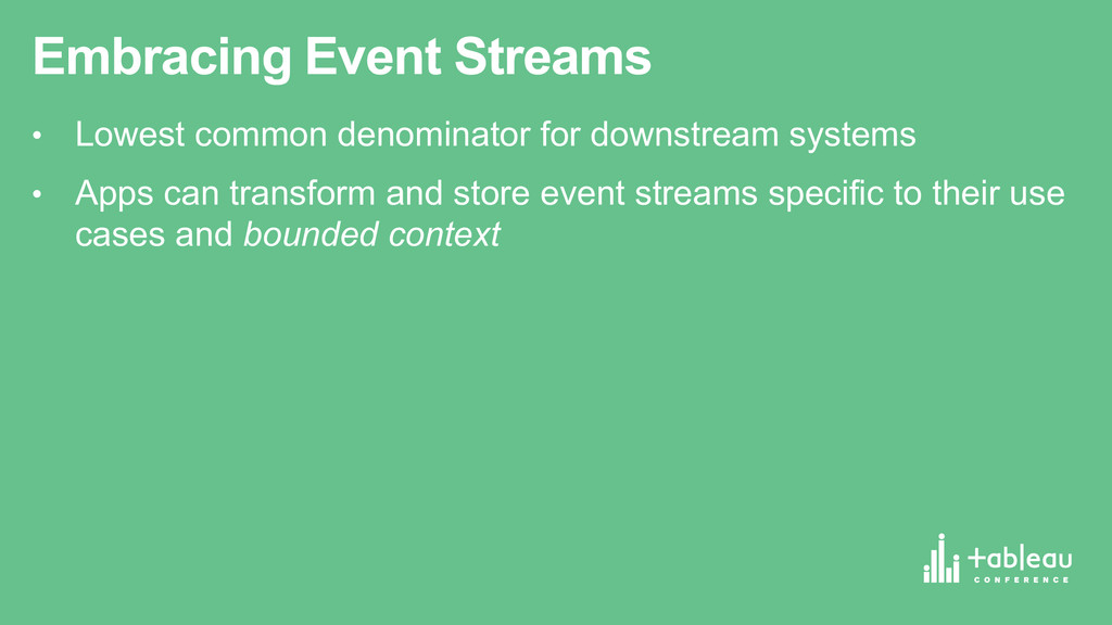 Embracing Event Streams • Lowest common den...