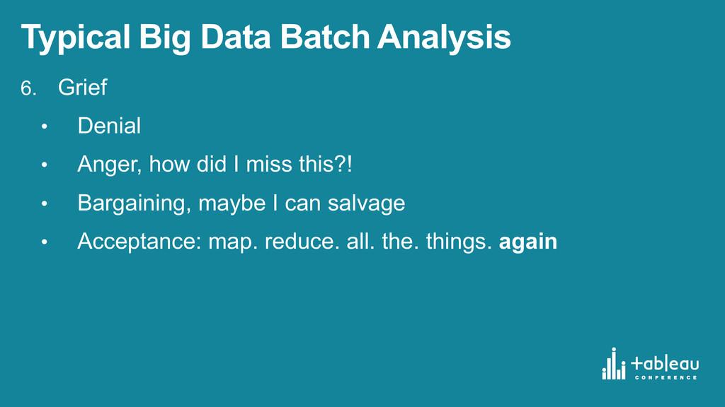 Typical Big Data Batch Analysis 6. Grief • ...