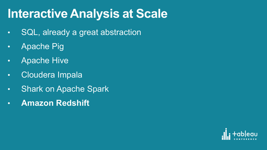 Interactive Analysis at Scale • SQL, alread...