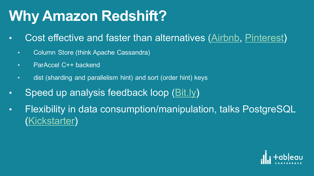 Why Amazon Redshift? • Cost effective and ...
