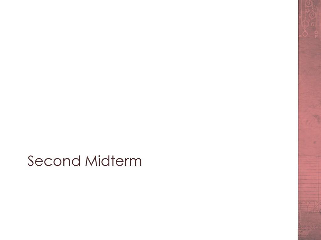 Second Midterm