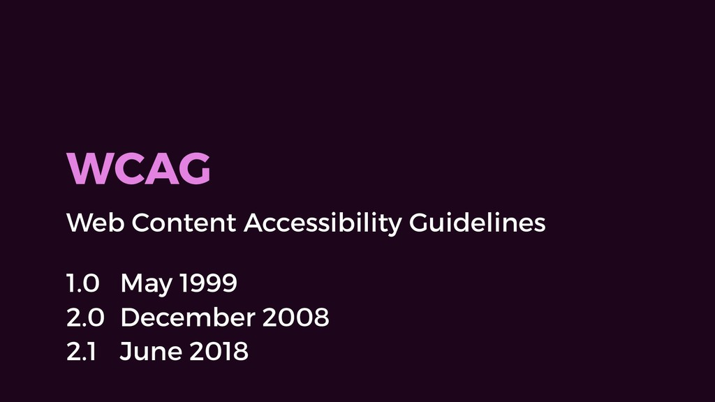 WCAG Web Content Accessibility Guidelines 1.0 M...