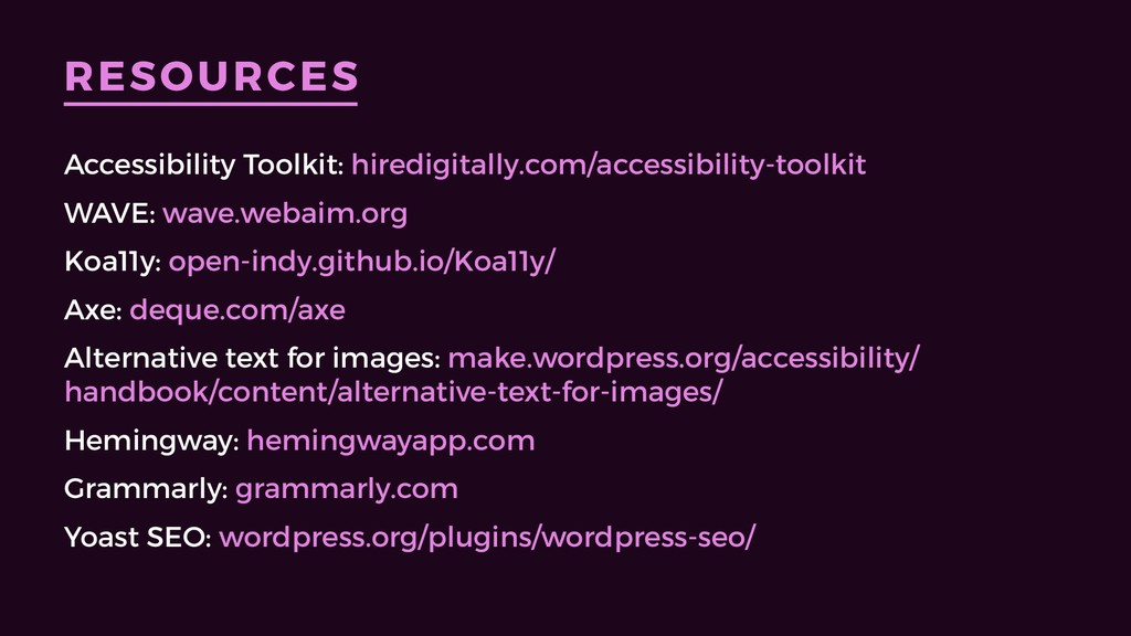 RESOURCES Accessibility Toolkit: hiredigitally....