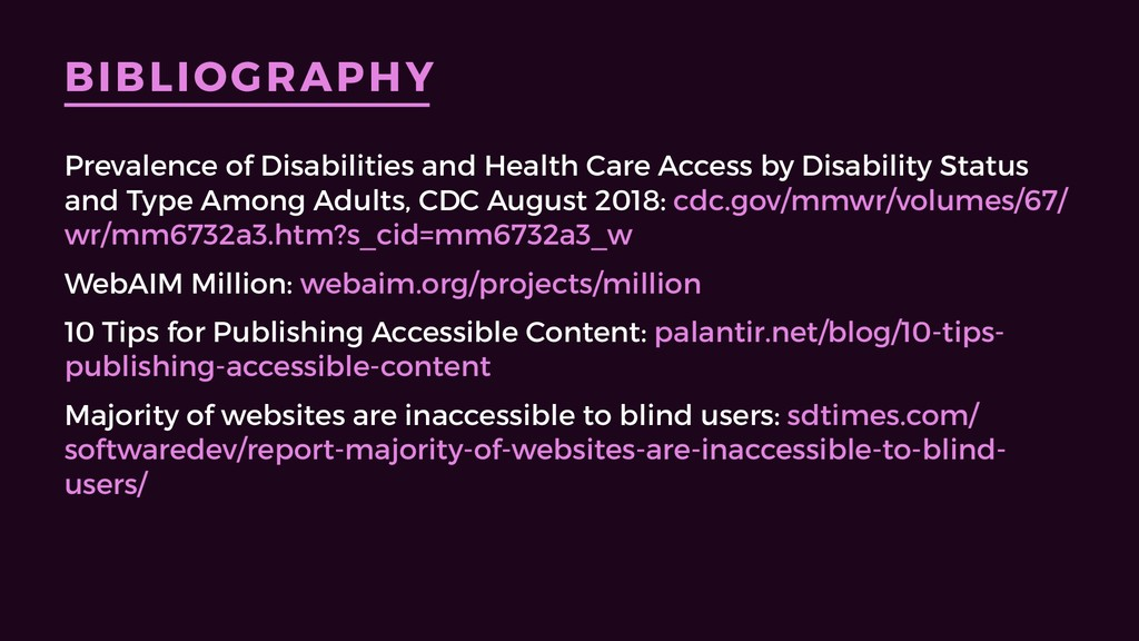 BIBLIOGRAPHY Prevalence of Disabilities and Hea...