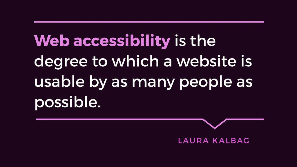 Web accessibility is the degree to which a webs...