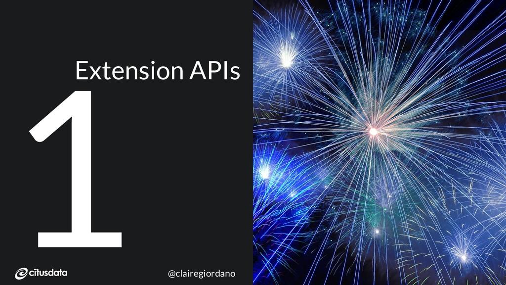 NORDIC PGDay 2019 | Copenhagen 1 Extension APIs...
