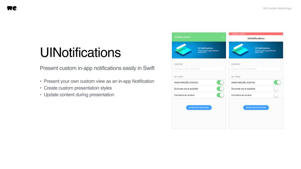 UINotifications WeTransfer Mobile App Present c...