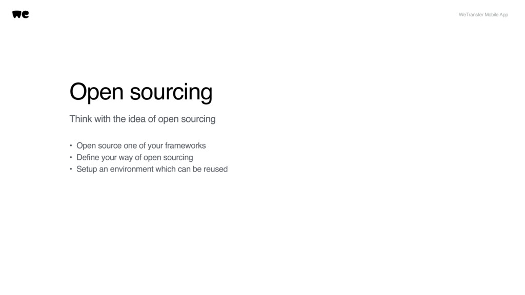 Open sourcing Think with the idea of open sourc...