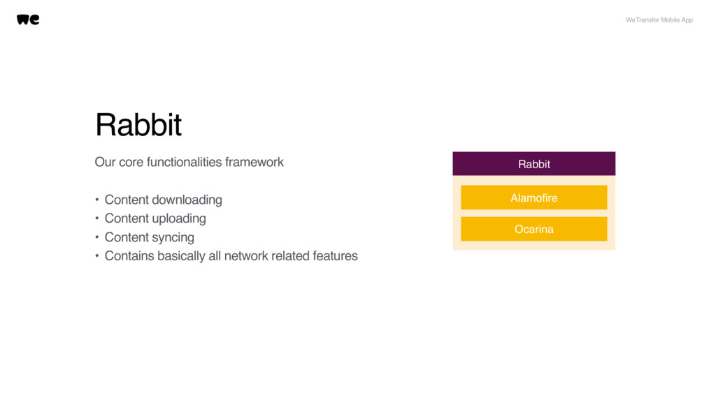 Rabbit Our core functionalities framework • Con...