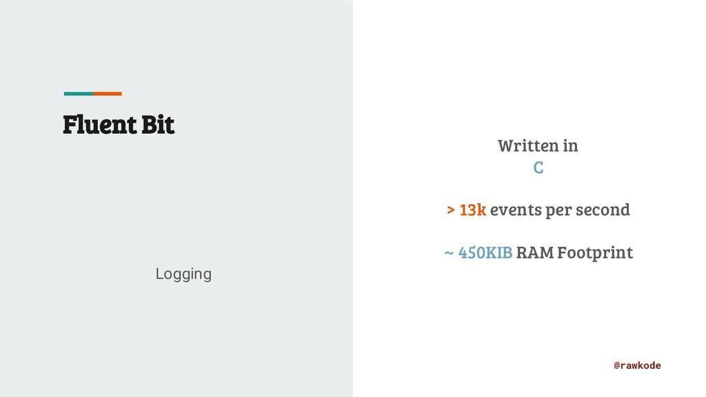 @rawkode Fluent Bit Logging Written in C > 13k ...