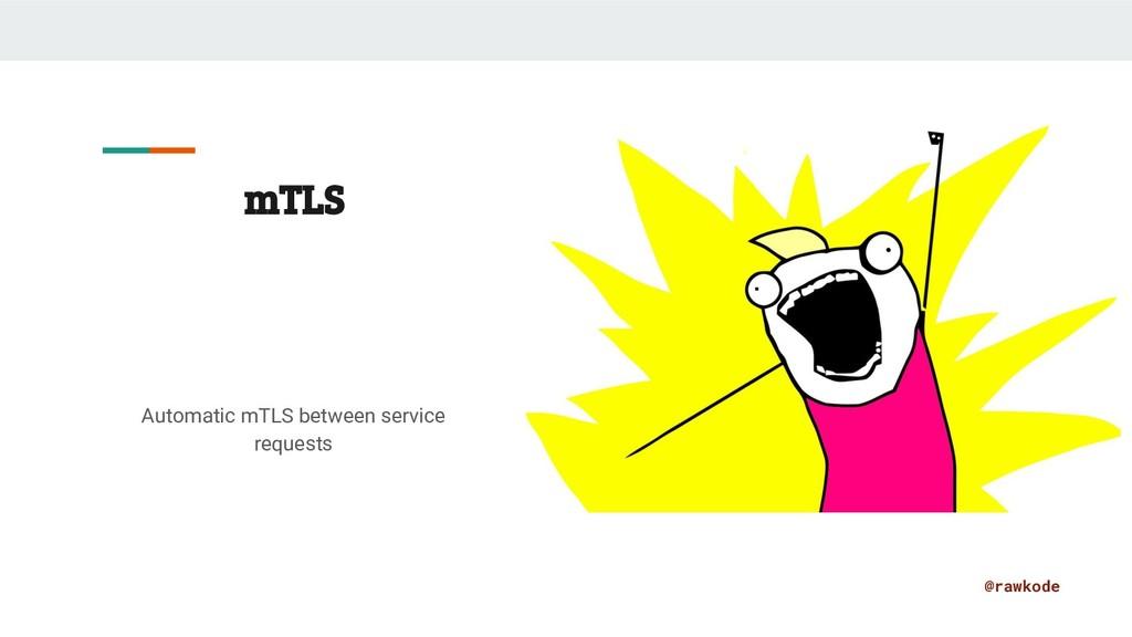 @rawkode mTLS Automatic mTLS between service re...