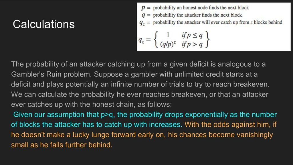 Calculations The probability of an attacker cat...