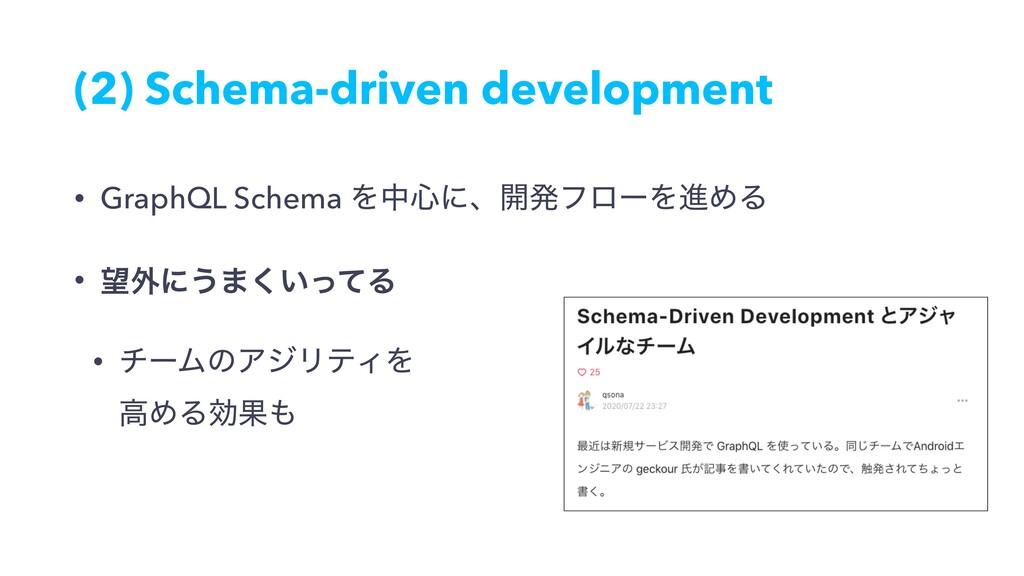 (2) Schema-driven development • GraphQL Schema ...