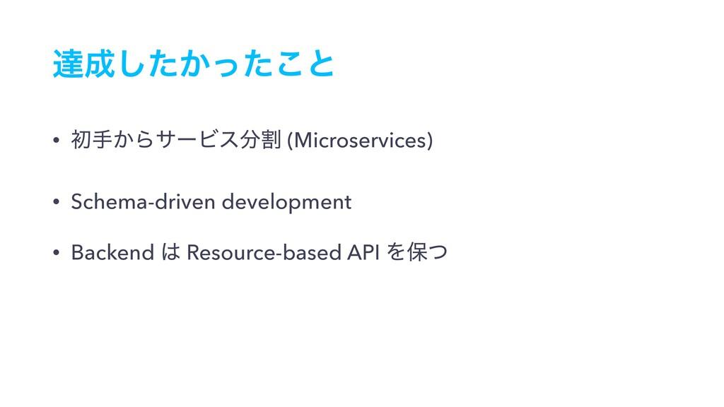 ୡ͔ͨͬͨ͜͠ͱ • ॳख͔ΒαʔϏεׂ (Microservices) • Schema...