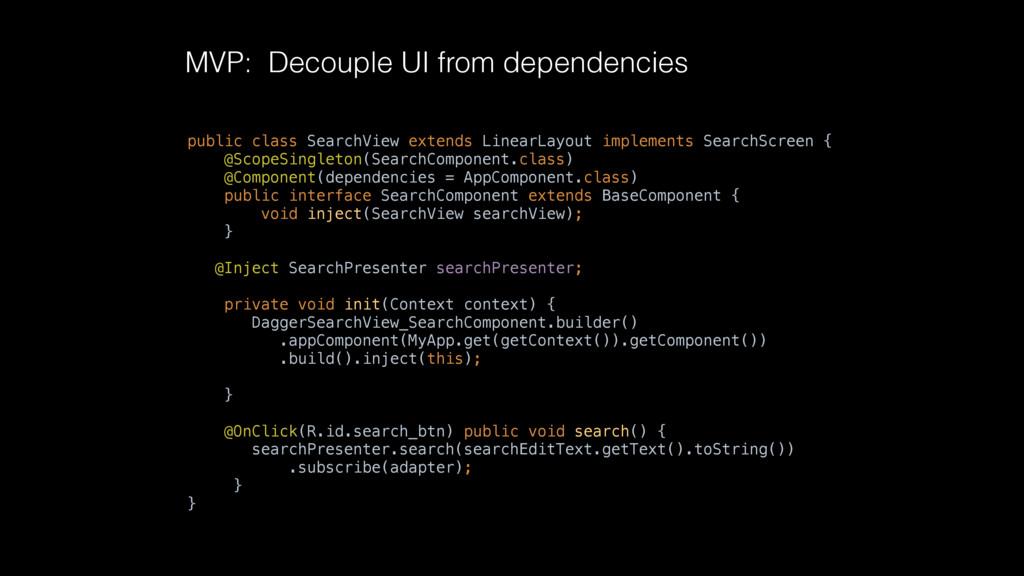 public class SearchView extends LinearLayout im...