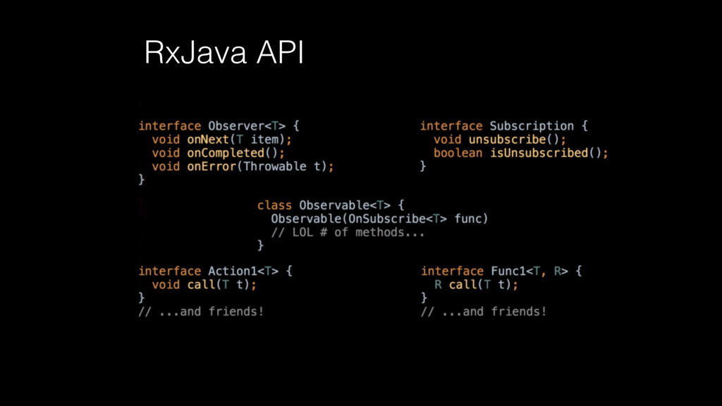 RxJava API