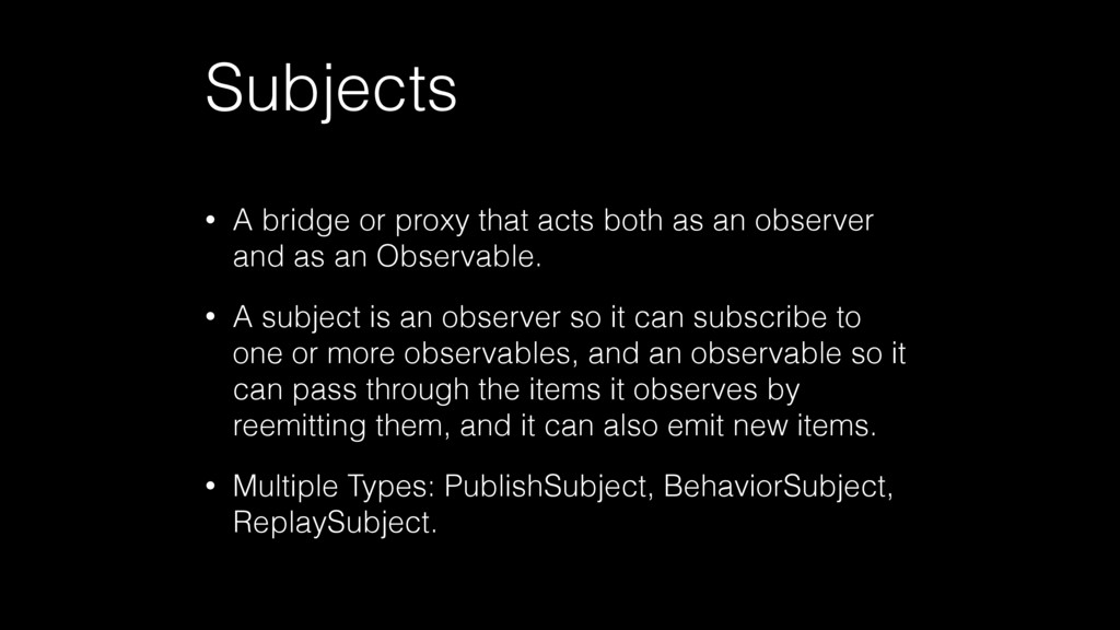 Subjects • A bridge or proxy that acts both as ...