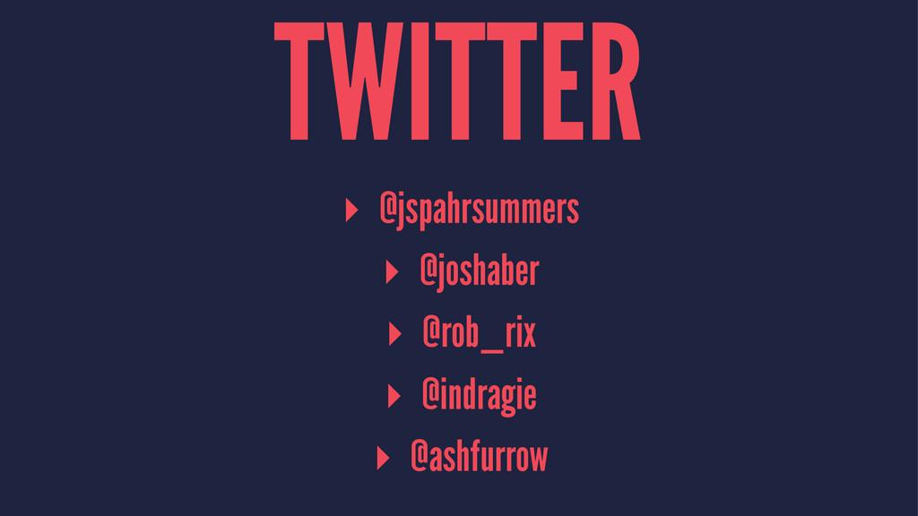 TWITTER ▸ @jspahrsummers ▸ @joshaber ▸ @rob_rix...