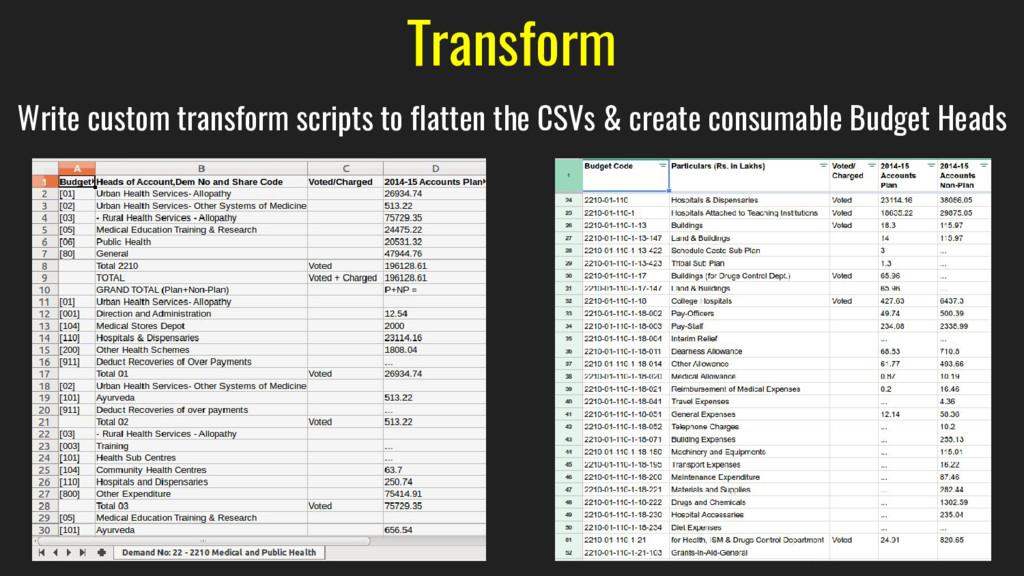 Transform Write custom transform scripts to fla...