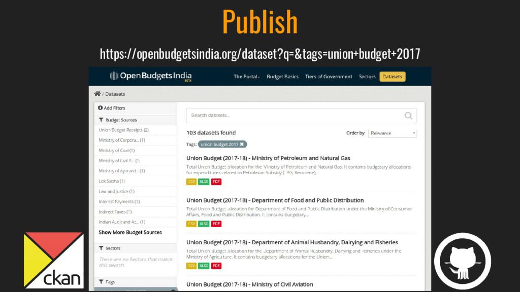Publish https://openbudgetsindia.org/dataset?q=...