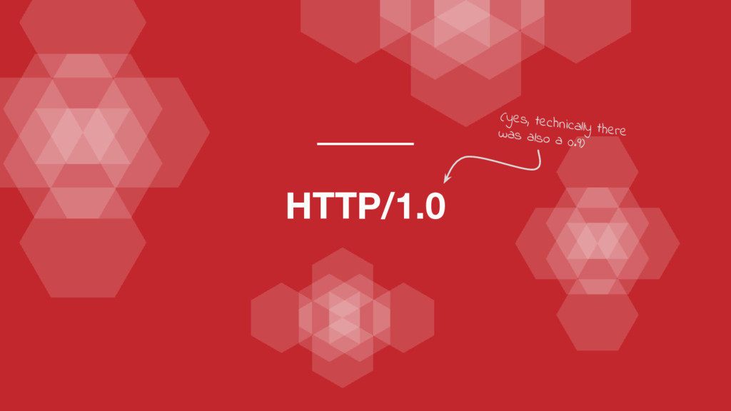 HTTP/1.0 (yes, technically there was also a 0.9)