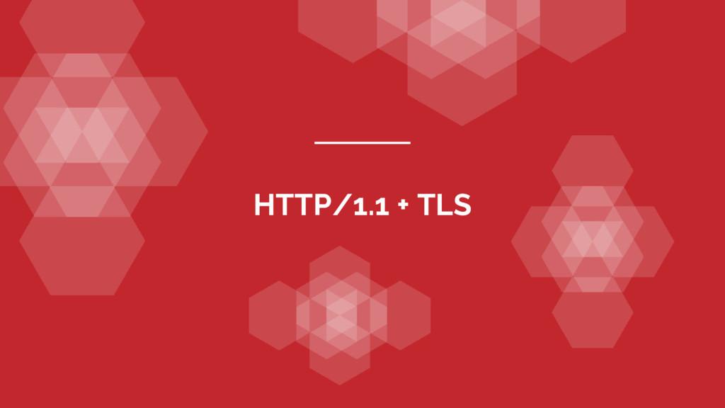 HTTP/1.1 + TLS