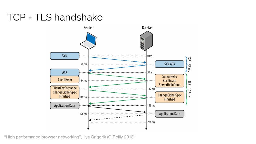 "TCP + TLS handshake ""High performance browser n..."