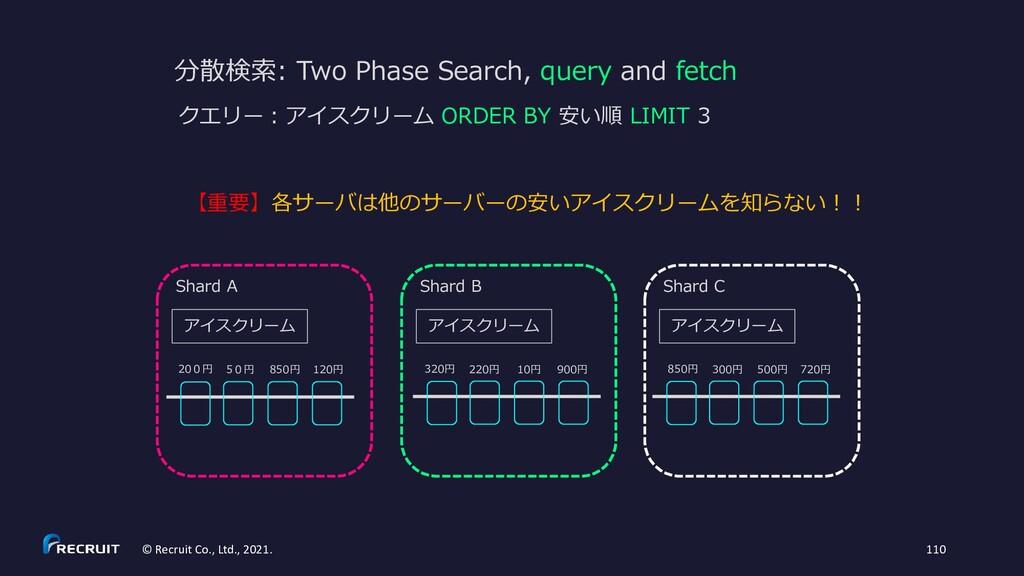 分散検索: Two Phase Search, query and fetch 【重要】各サー...