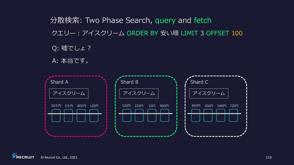 分散検索: Two Phase Search, query and fetch Q: 嘘でしょ...