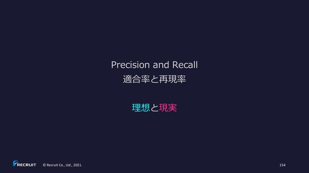 Precision and Recall © Recruit Co., Ltd., 2021....