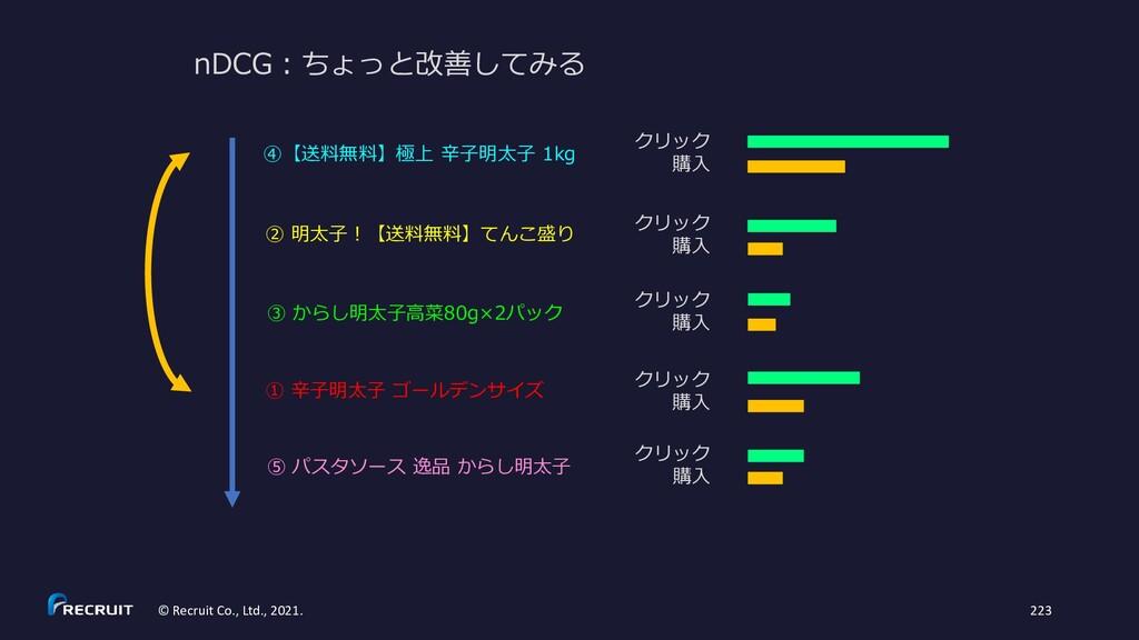 nDCG:ちょっと改善してみる ① 辛子明太子 ゴールデンサイズ ② 明太子!【送料無料】てん...