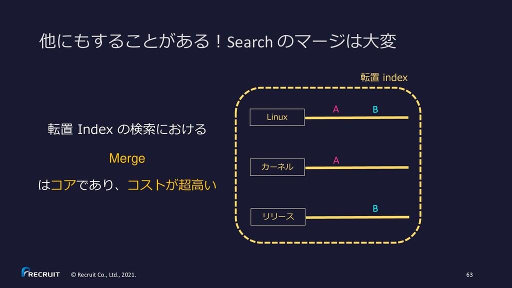 他にもすることがある!Search のマージは大変 © Recruit Co., Ltd., ...