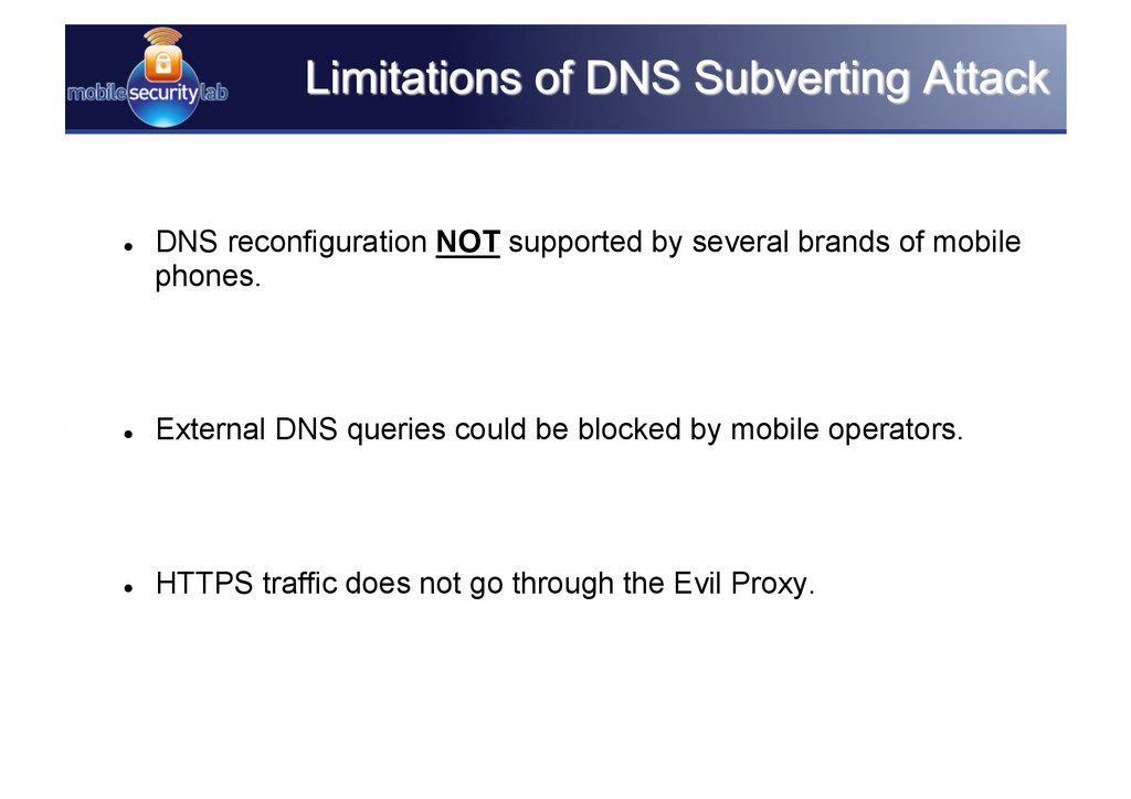   DNS reconfiguration NOT supported by several...