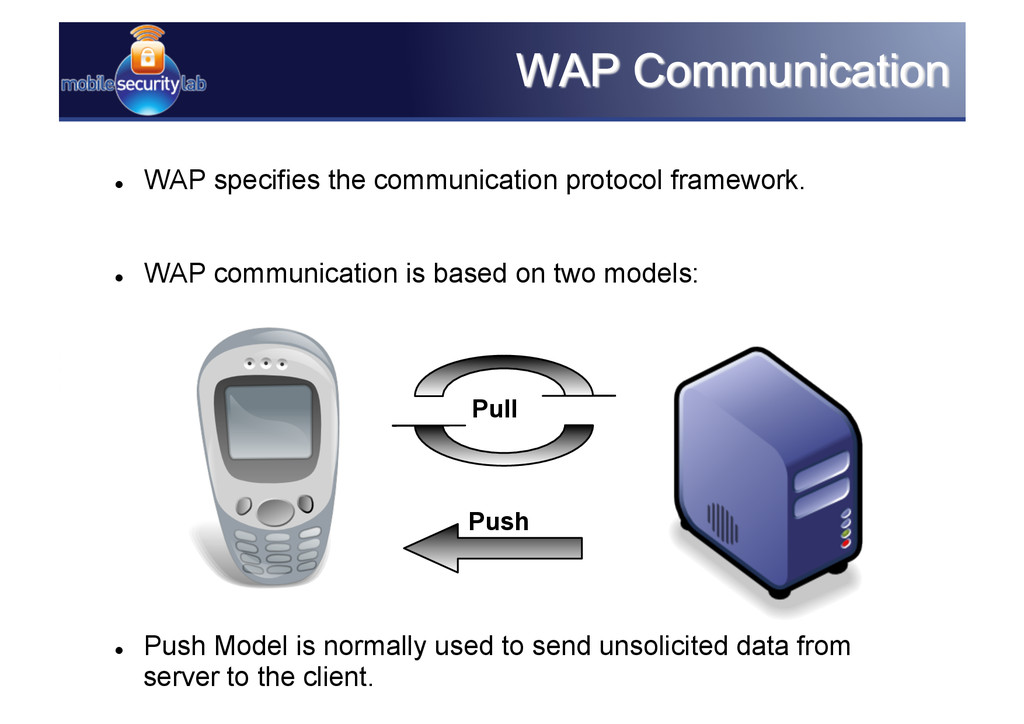   WAP specifies the communication protocol fra...
