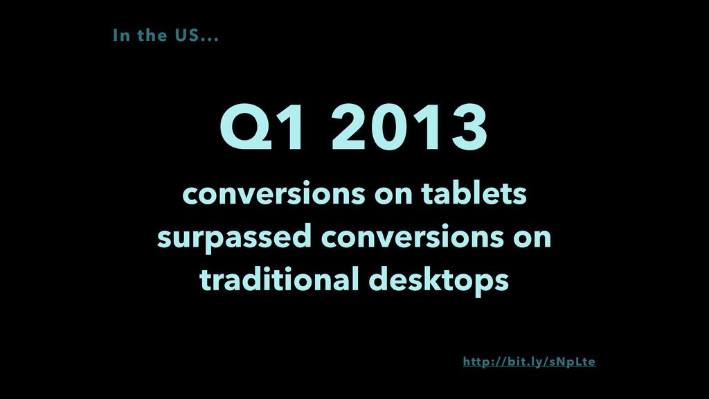 Q1 2013 conversions on tablets surpassed conve...