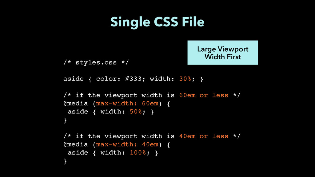 Single CSS File Large Viewport Width First /* s...