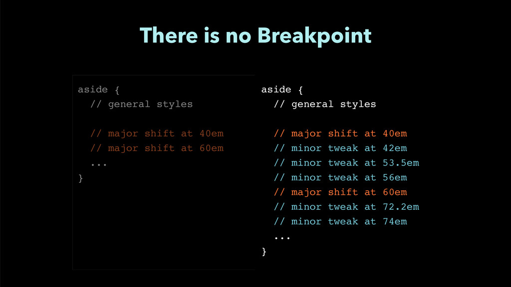 """There is no Breakpoint aside {"""" // general styl..."""