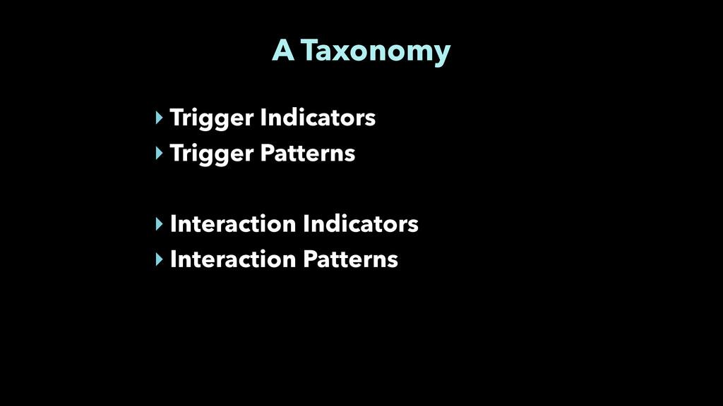 A Taxonomy ‣ Trigger Indicators ‣ Trigger Patte...