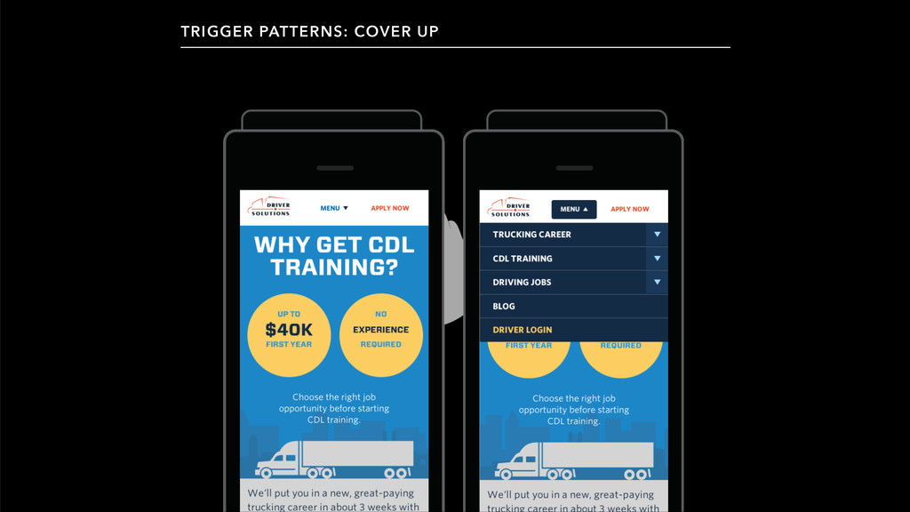 TRIGGER PATTERNS: COVER UP