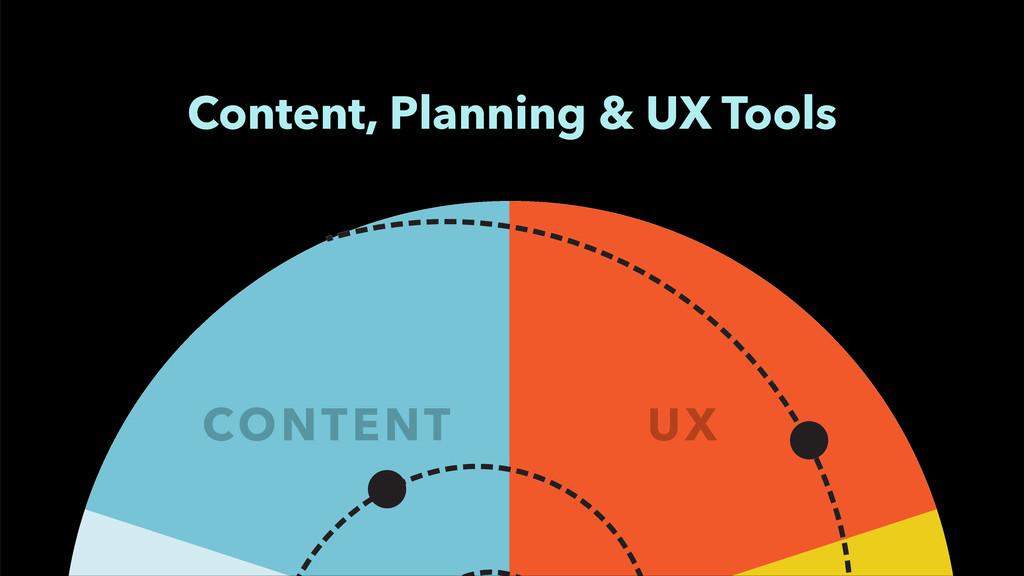 CONTENT UX Content, Planning & UX Tools