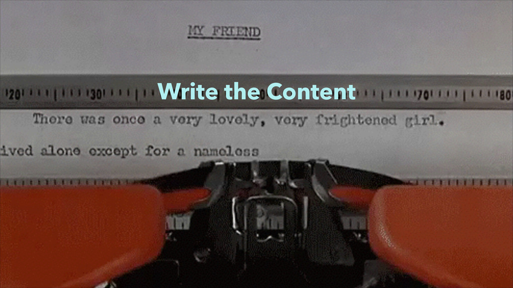 Write the Content
