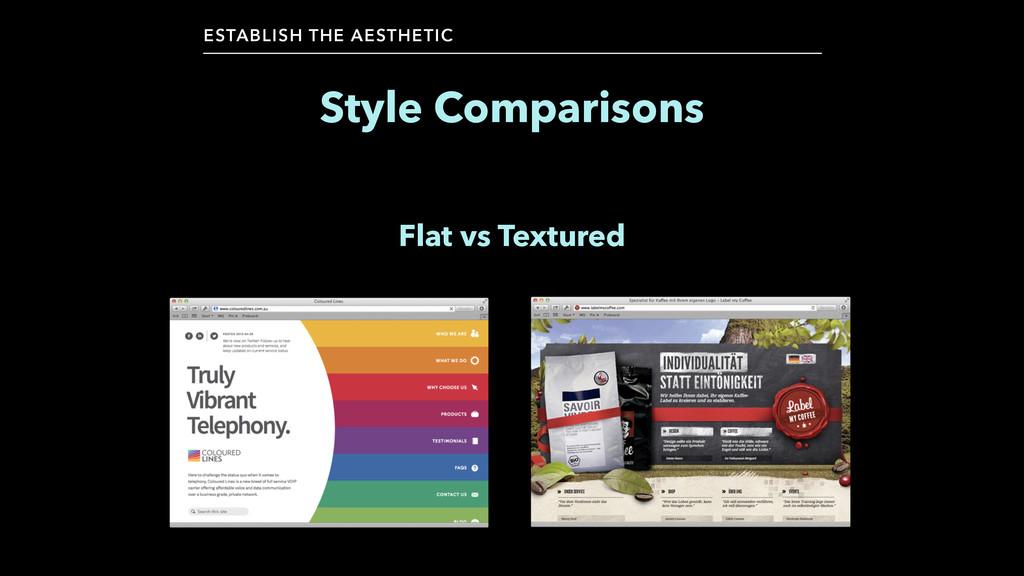 Style Comparisons ESTABLISH THE AESTHETIC Flat ...