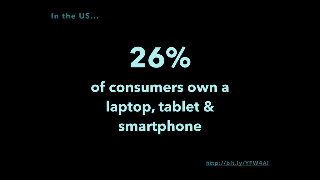 26% of consumers own a laptop, tablet & smartp...