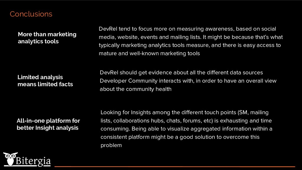 DevRel tend to focus more on measuring awarenes...