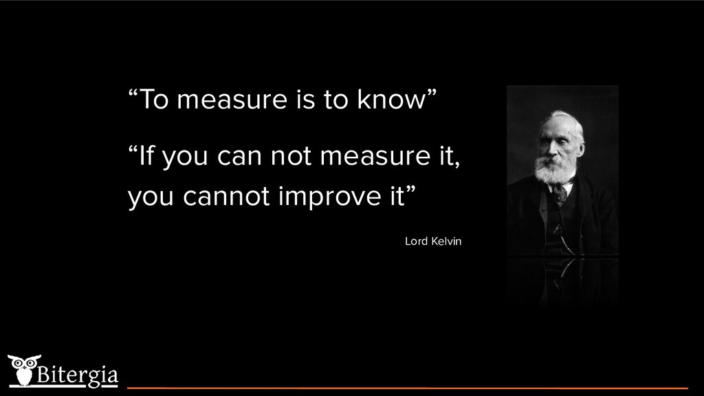 """""""To measure is to know"""" """"If you can not measure..."""