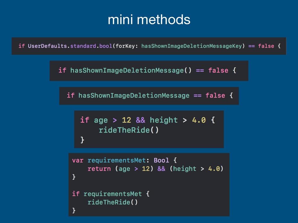 mini methods