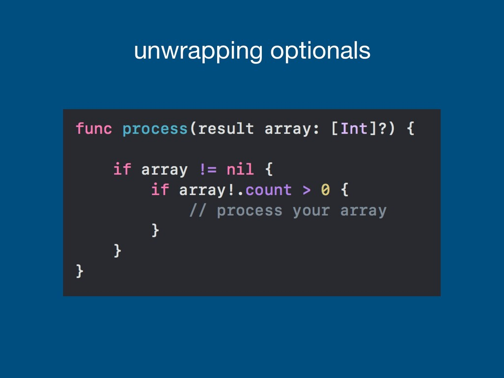 unwrapping optionals