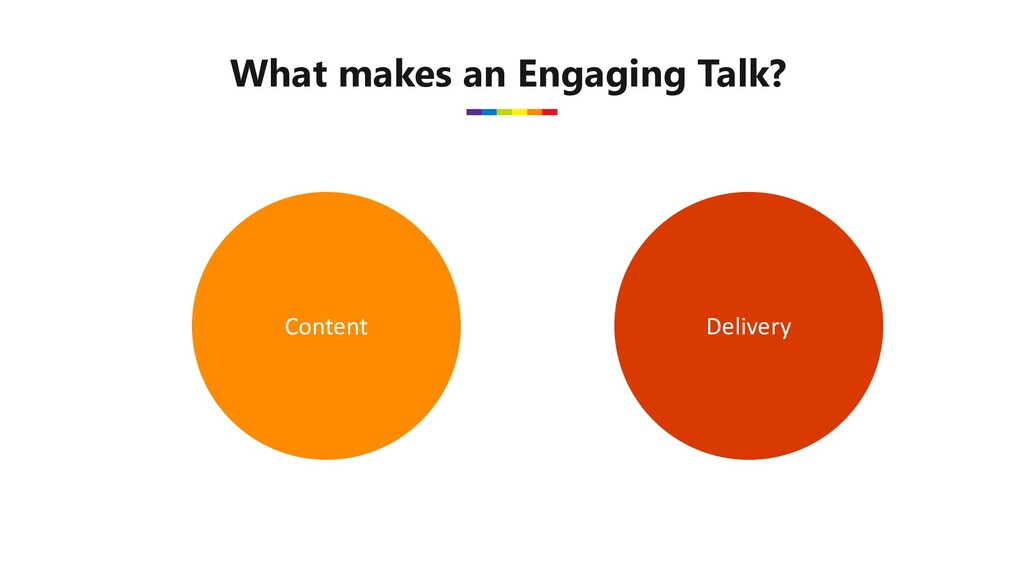What makes an Engaging Talk? Content Delivery