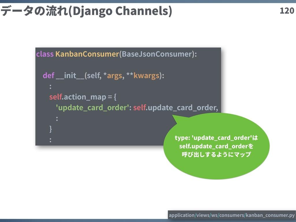 120 データの流れ(Django Channels) class KanbanConsume...
