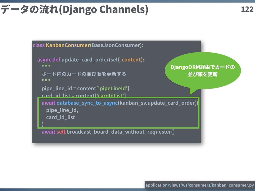 122 データの流れ(Django Channels) class KanbanConsume...